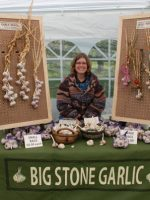 Our first garlic booth ever!