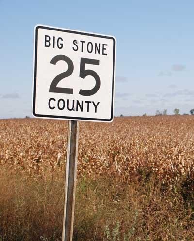 Big Stone County HWY 25 Road Sign